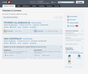plesk Websites & Domains