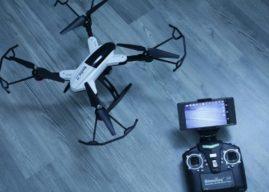 Simulus Faltbarer FPV-Quadrocopter m. HD-Cam, WiFi & App