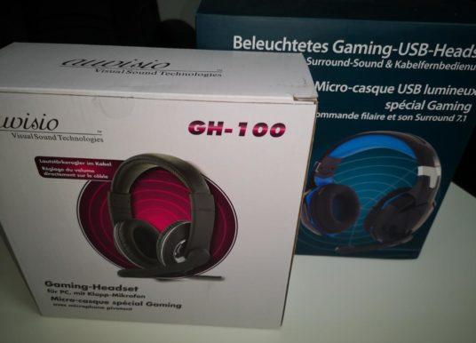Zwei Gaming Headsets von Pearl im Test